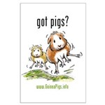 Got Pigs Large Poster
