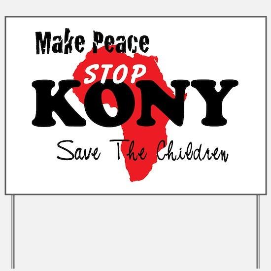Stop Kony 2012 Yard Sign