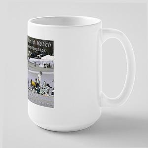 championship dog kicking match mug
