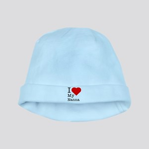 I Love My Nanna baby hat