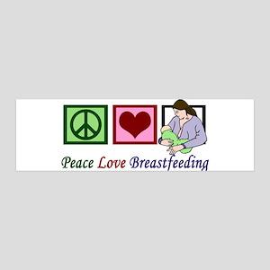 Peace Love Breastfeeding 20x6 Wall Decal