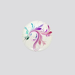 Colorful flourish Mini Button