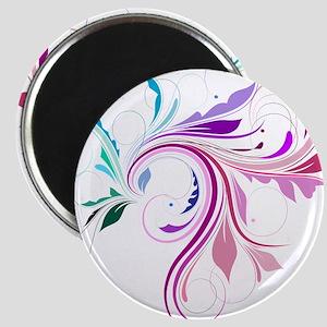Colorful flourish Magnet