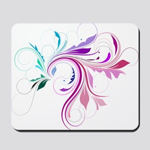 Colorful flourish Mousepad