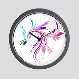 Colorful flourish Wall Clock