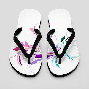 Colorful flourish Flip Flops