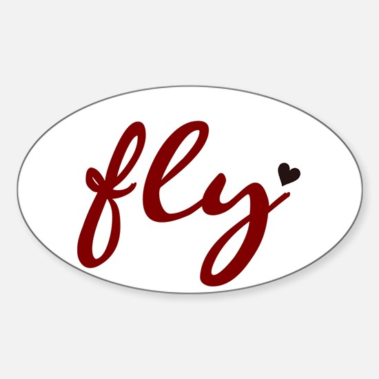 Fly Oval Decal