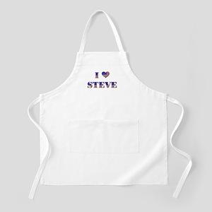 I Love STEVE BBQ Apron