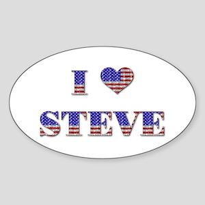 I Love STEVE Oval Sticker