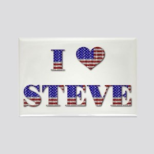 I Love STEVE Rectangle Magnet