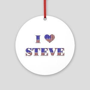 I Love STEVE Ornament (Round)