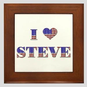 I Love STEVE Framed Tile