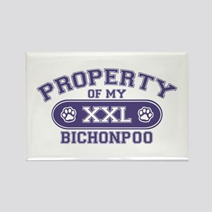 Bichonpoo PROPERTY Rectangle Magnet