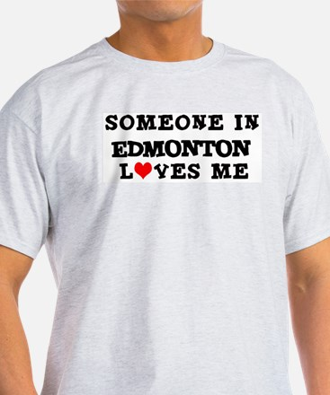 Someone in Edmonton Ash Grey T-Shirt