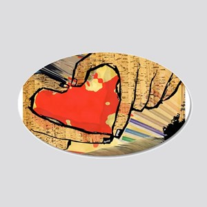 Heart of an Artist 22x14 Oval Wall Peel