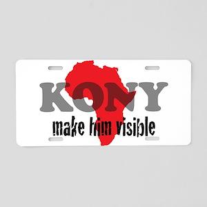 Stop Kony 2012 Aluminum License Plate