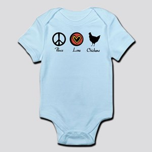 Peace Love And Chickens Infant Bodysuit