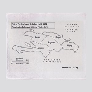 Kiskeia Taino Territories Throw Blanket