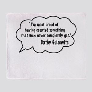 Cathy Guisewite Quote Throw Blanket
