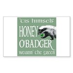 Honey O'Badger Sticker (Rectangle 10 pk)