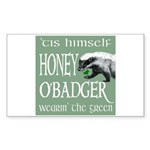 Honey O'Badger Sticker (Rectangle)