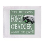 Honey O'Badger Throw Blanket