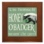 Honey O'Badger Framed Tile