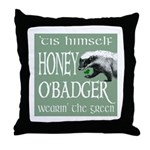 Honey O'Badger Throw Pillow