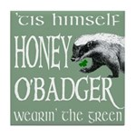 Honey O'Badger Tile Coaster