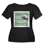 Honey O'Badger Women's Plus Size Scoop Neck Dark T