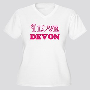 I Love Devon Plus Size T-Shirt