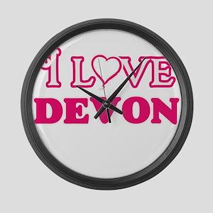 I Love Devon Large Wall Clock