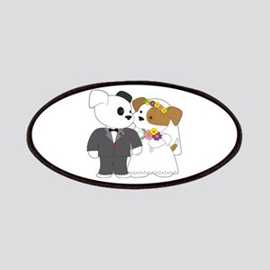 Cute Puppy Marriage Patches