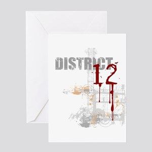 District 12 - Hunger Games Greeting Card