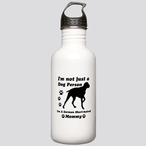 German Short Haired Mommy Stainless Water Bottle 1