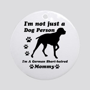 German Short Haired Mommy Ornament (Round)