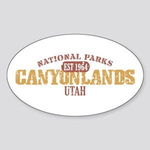 Canyonlands National Park UT Sticker (Oval)