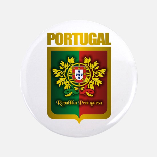"""Portuguese Gold"" 3.5"" Button"