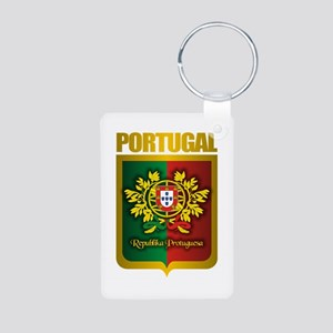 """Portuguese Gold"" Aluminum Photo Keychain"