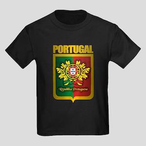 """""""Portuguese Gold"""" Kids Dark T-Shirt"""