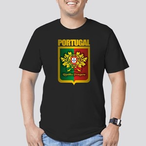 """Portuguese Gold"" Men's Fitted T-Shirt (dark)"