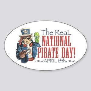 National Pirate Day Oval Sticker