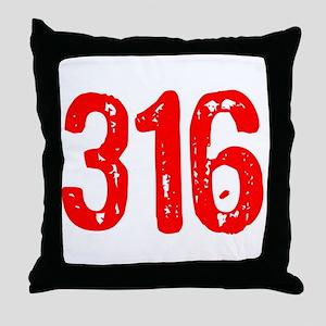 316 Throw Pillow