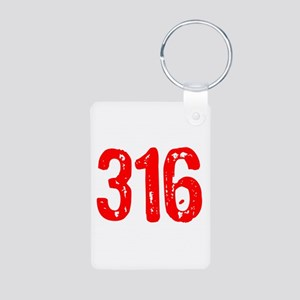 316 Aluminum Photo Keychain