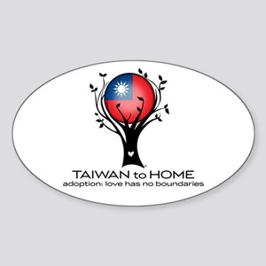 Taiwan to Home Sticker (Oval)