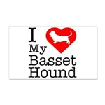 I Love My Basset Hound 22x14 Wall Peel