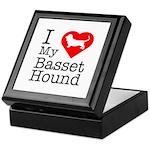I Love My Basset Hound Keepsake Box