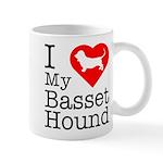 I Love My Basset Hound Mug