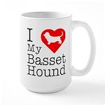 I Love My Basset Hound Large Mug