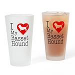 I Love My Basset Hound Drinking Glass
